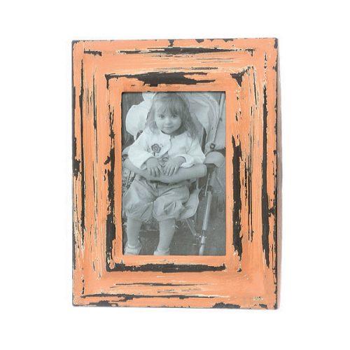 Fotoram i metall med vacker patinering. Bildmått 13,5x8,5 cm, mått inklusive ram 22,5x17,5 cm.