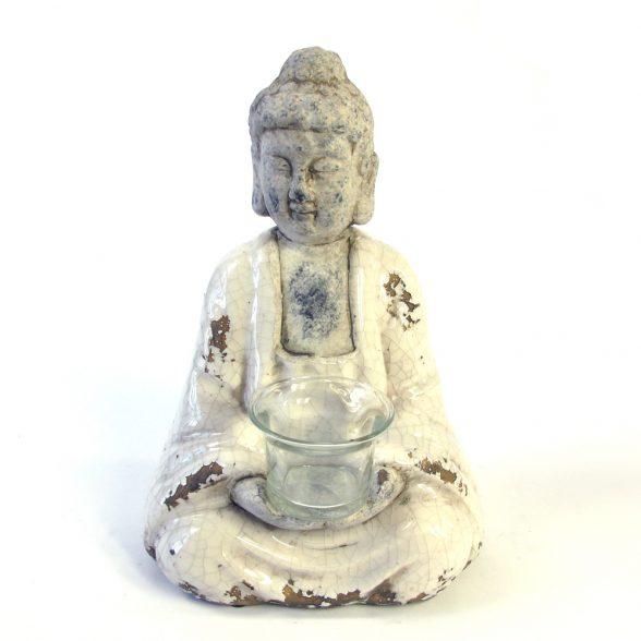 Buddhafigur med hållare för värmeljus