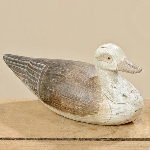 Dekorativ sjöfågel i polyresin, längd 20 cm.