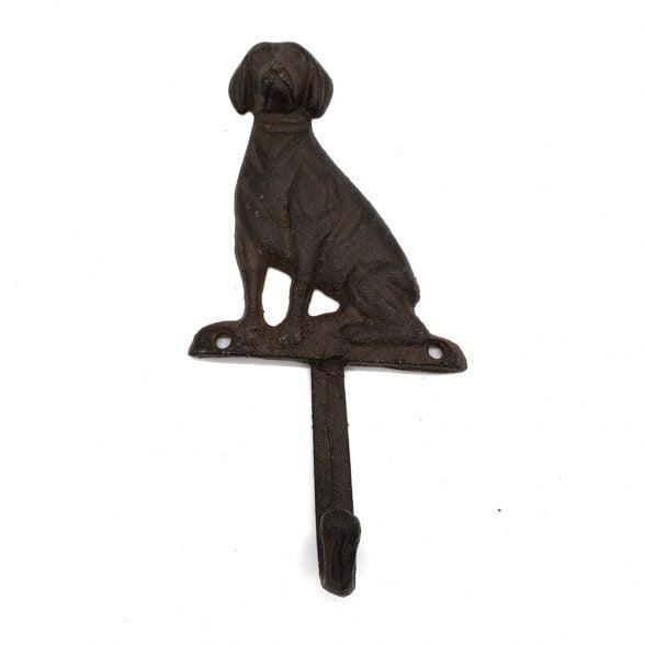 Krok i gjutjärn med dekor av hund. Mått 18x9 cm.