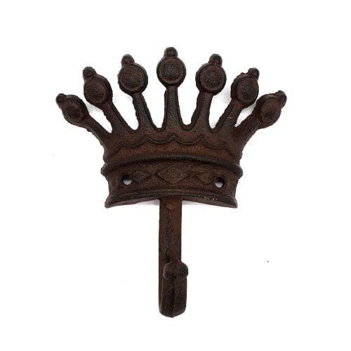 Krok i gjutjärn med dekor av krona. Mått 14x13 cm.