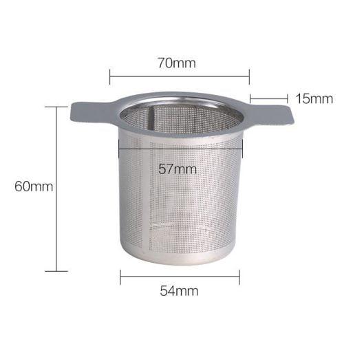 Praktisk tesil för kopp och kanna. Tesilen har många och små hål vilket gör att den passar för alla sorters te. Tillverkad i rostfritt stål. Mått 10x5,7x6 cm (lxbxh).