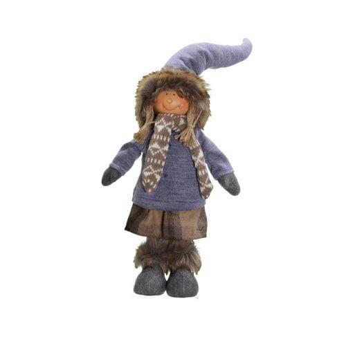 Dekorativ docka i textil, höjd 34 cm.