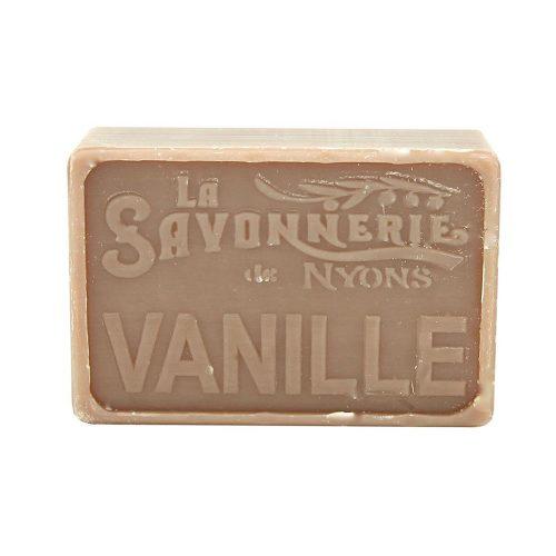 Tvål från franska La Savonnerie de Nyons med en behaglig doft av vanilj. 100% vegetabilisk.