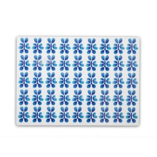 Bordstablett med Stig Lindbergs mönster Blues.
