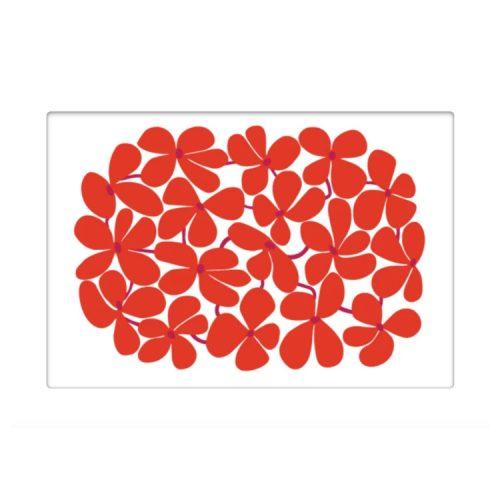 Bordstablett med Stig Lindbergs mönster Balett. Tillverkad i praktisk miljövänlig PET-plast som är lätt att torka av. Mått 40x27 cm.
