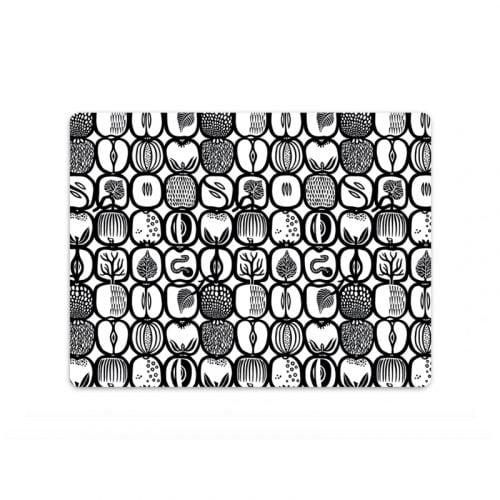 Bordstablett med Stig Lindbergs mönster Fruktlåda. Tillverkad i praktisk miljövänlig PET-plast som är lätt att torka av. Mått 40×30 cm.
