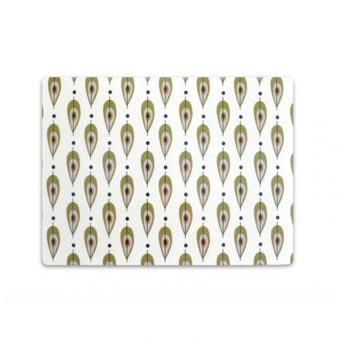 Bordstablett med Stig Lindbergs mönster High Pears. Tillverkad i praktisk miljövänlig PET-plast som är lätt att torka av. Mått 40×30 cm.