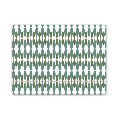 Bordstablett med Stig Lindbergs mönster Propeller. Tillverkad i praktisk miljövänlig PET-plast som är lätt att torka av. Mått 40×30 cm.